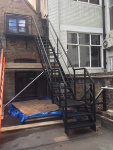 Large Fire Escape Satircase