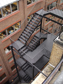 Large External Iron Staircase Refurbishment