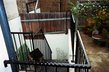 Courtyard Iron external staircases