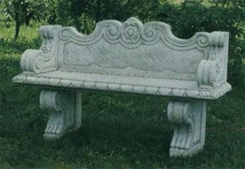 Panchina Villa Borghese - Decorative two seater stone garden bench
