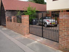 Residential Curved Top Gates. Illustrative picture to show materials and finish