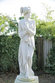 Canova cement garden statue - Antiqued 'Patonata' (default finish)