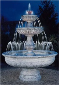 Agrigento tiered Water Fountain garden ornament