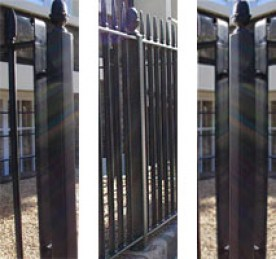 Posts suitable for Heavy Duty railings ER03. Picture shows actual product with finish options included.
