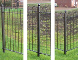 Posts suitable for Hooped, Round Top Fence ER02. Picture shows actual product with finish options included.