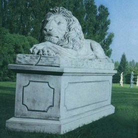Leone Gonzaga Very big cement marble lion statue