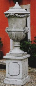 Hermitage stone garden trophy ornament made from cement marble composite
