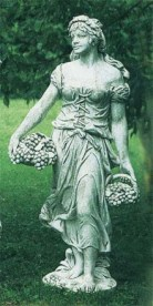 Stagione Autunno - Woman with fruit baskets statue