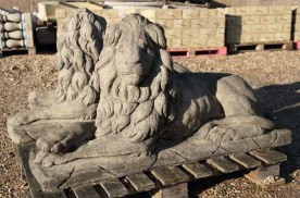 Pair of Concrete moulded Lions Statues