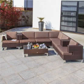 Manhatten Deluxe rattan lounge set in Cappuccino Super finish