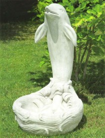 Flipper Dolphin cement marble water feature