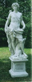 Apollo god stone garden statue
