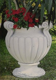 Impero large stone garden planter ornament made from cement marble composite